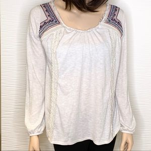 Knox Rose Boho Long Sleeve Top Size XS